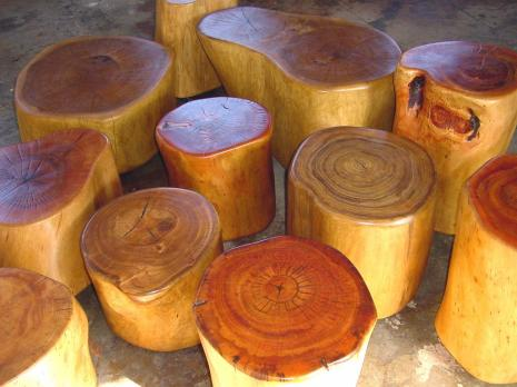 Tree Stump Tables